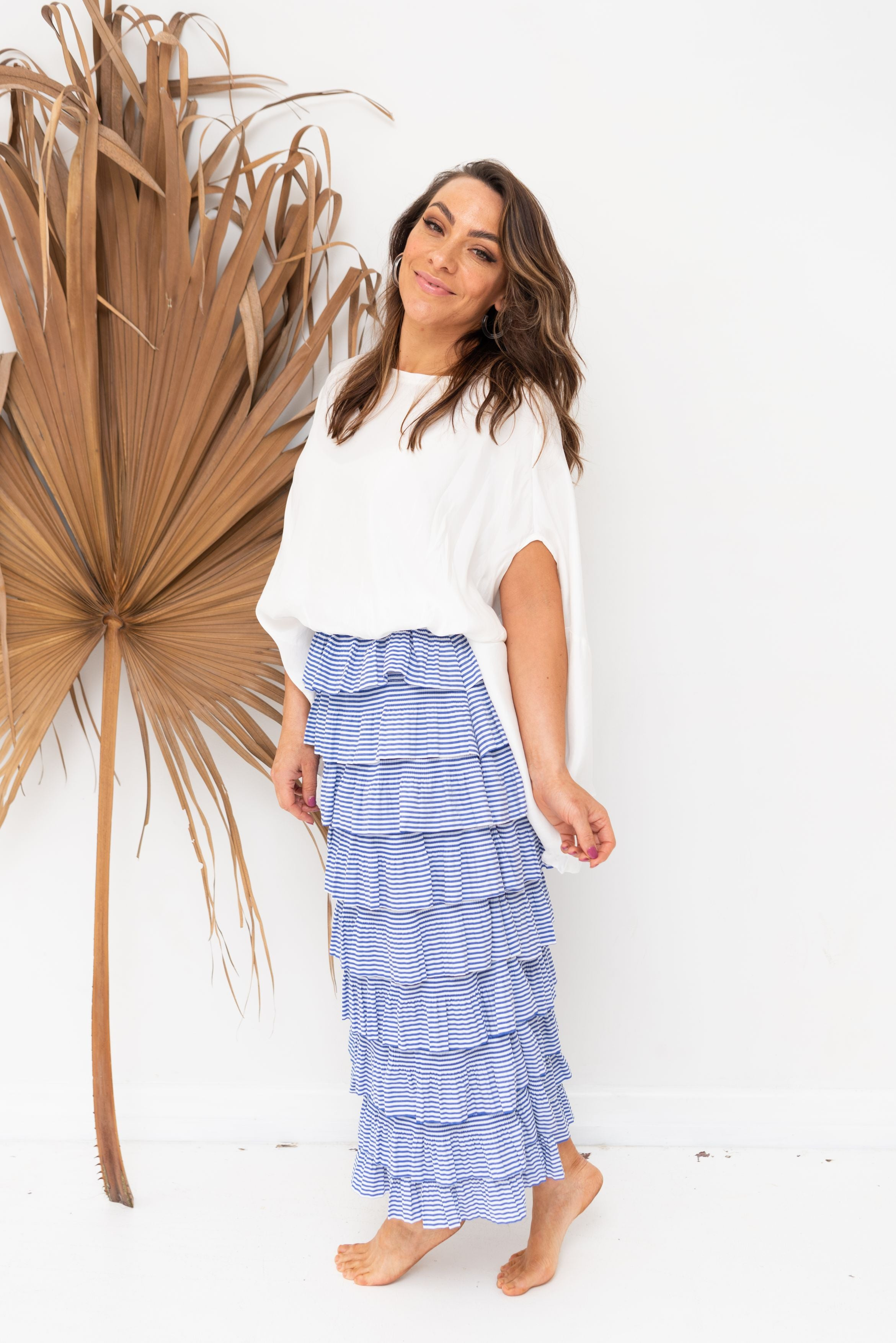 POPPY SKIRT - Cornflower Stripe