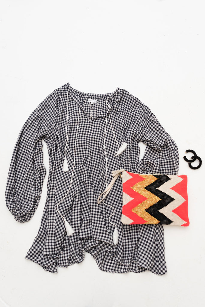 ALBA SHIRT / DRESS - Black Gingham