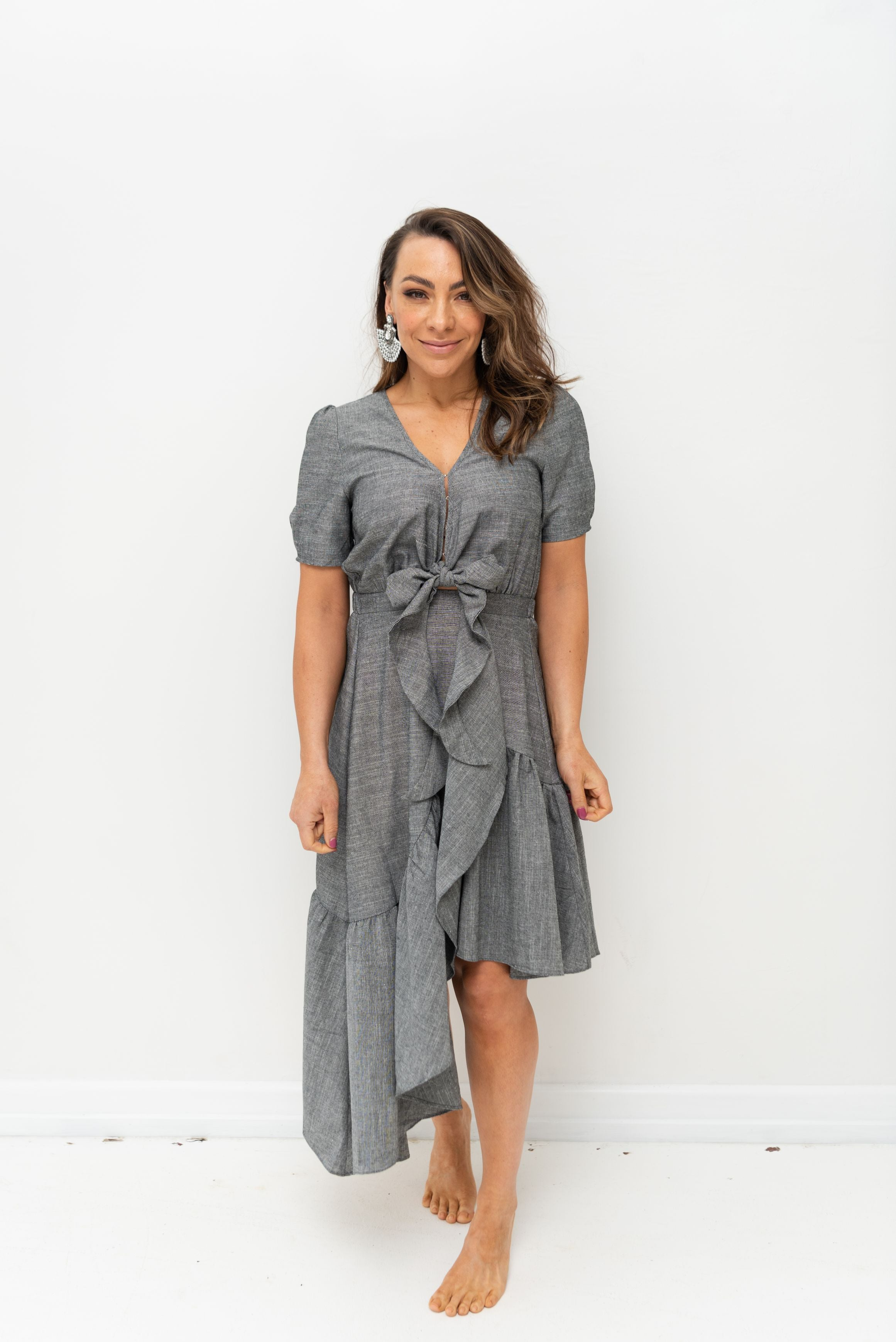 LIBBY DRESS - Pewter