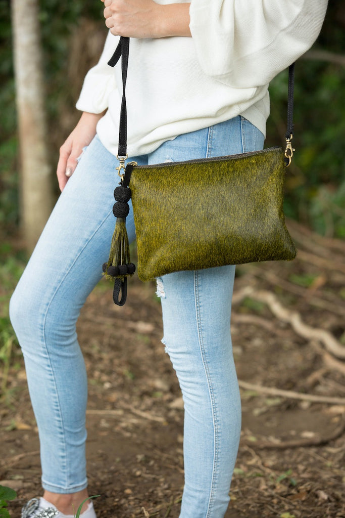 Viva Bag/Clutch - Olive - REVERSIBLE