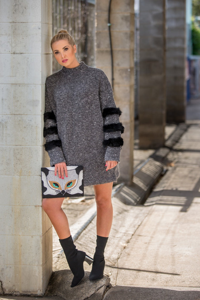 EZRA JUMPER / DRESS - Pewter