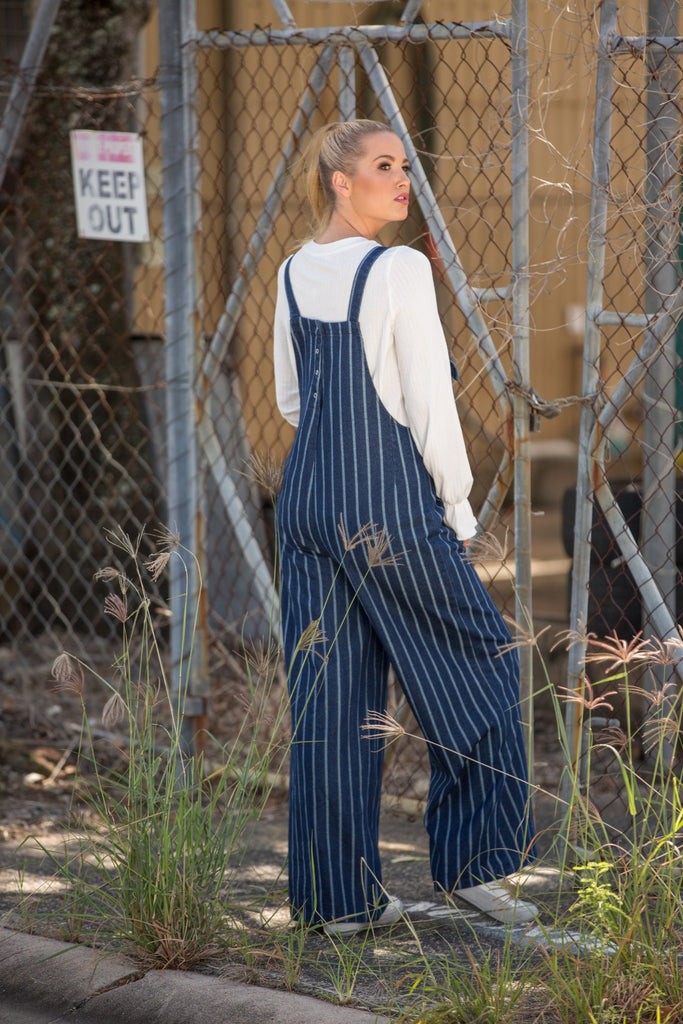 CLARENCE OVERALL - Denim Stripe