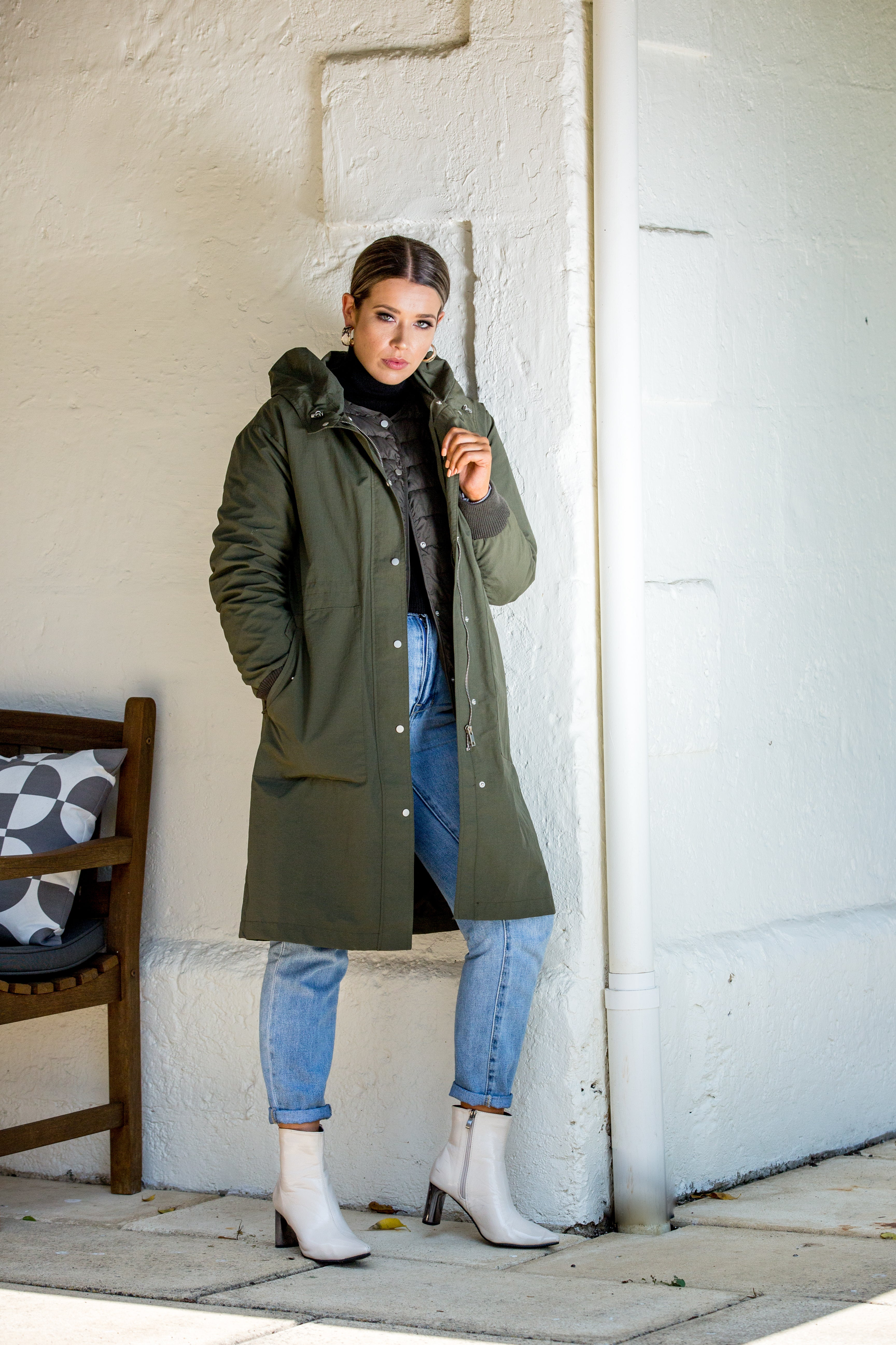 MORGAN COAT - Olive