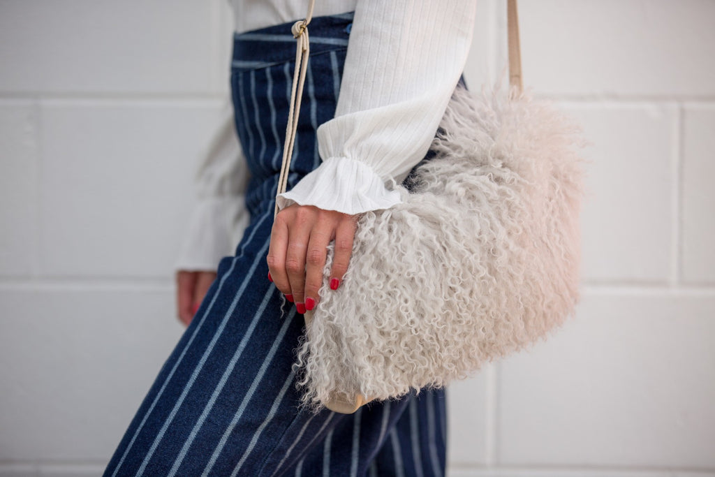 Gutherie Fur Bag - White
