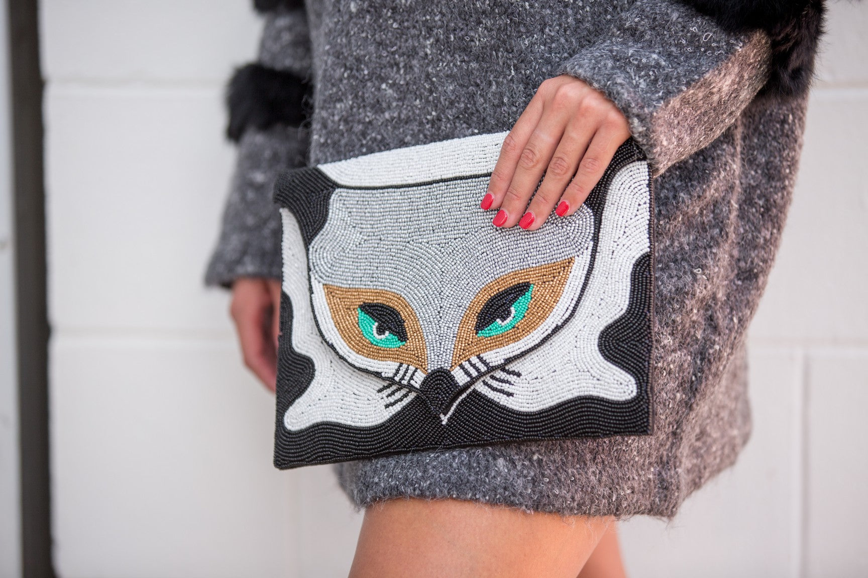 Mr Fox Clutch - Black & White