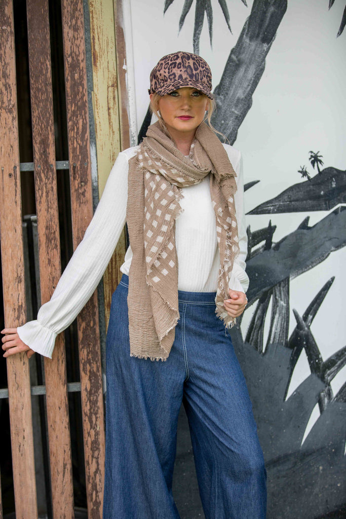 Exton Scarf- Coffee
