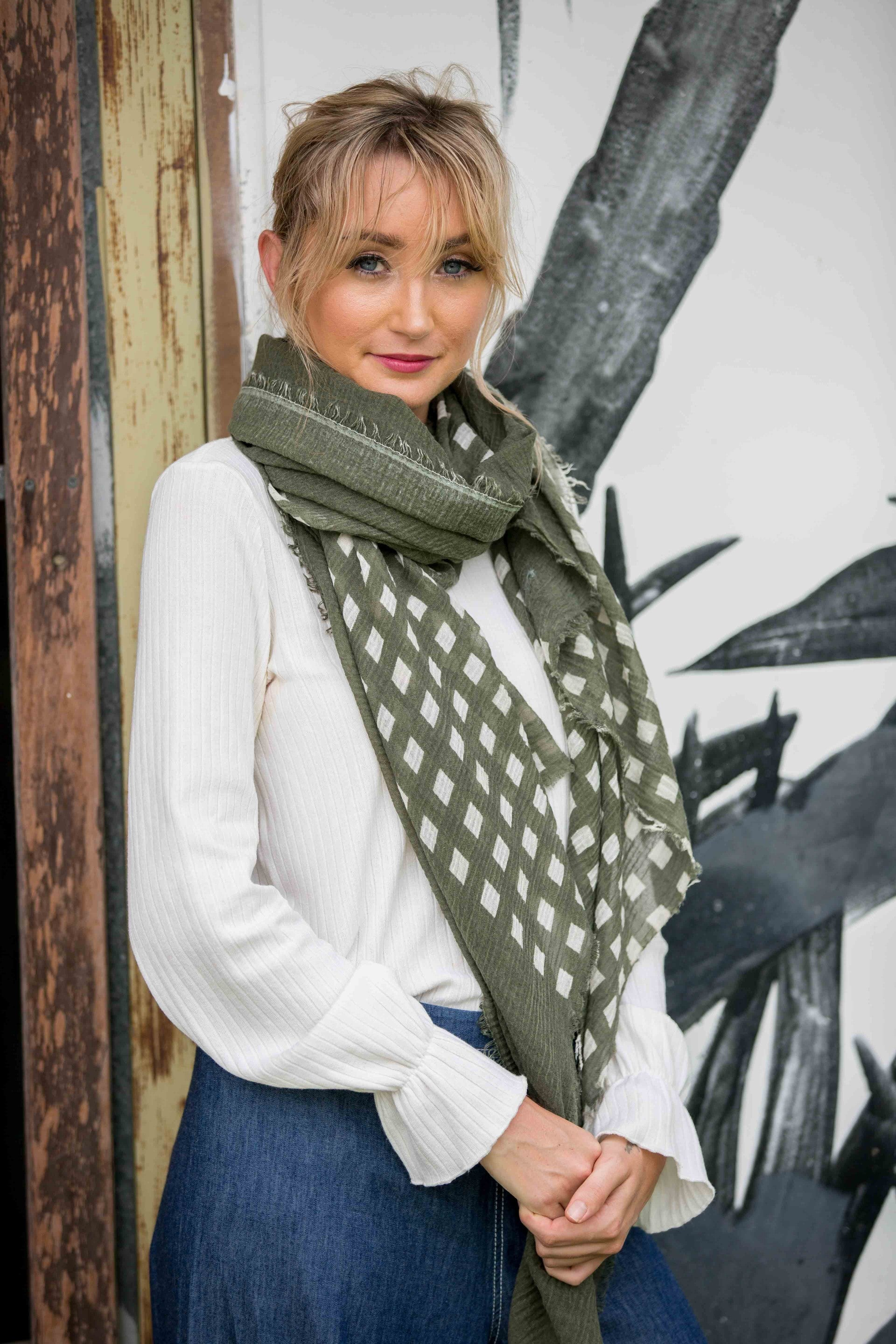 Exton Scarf- Olive