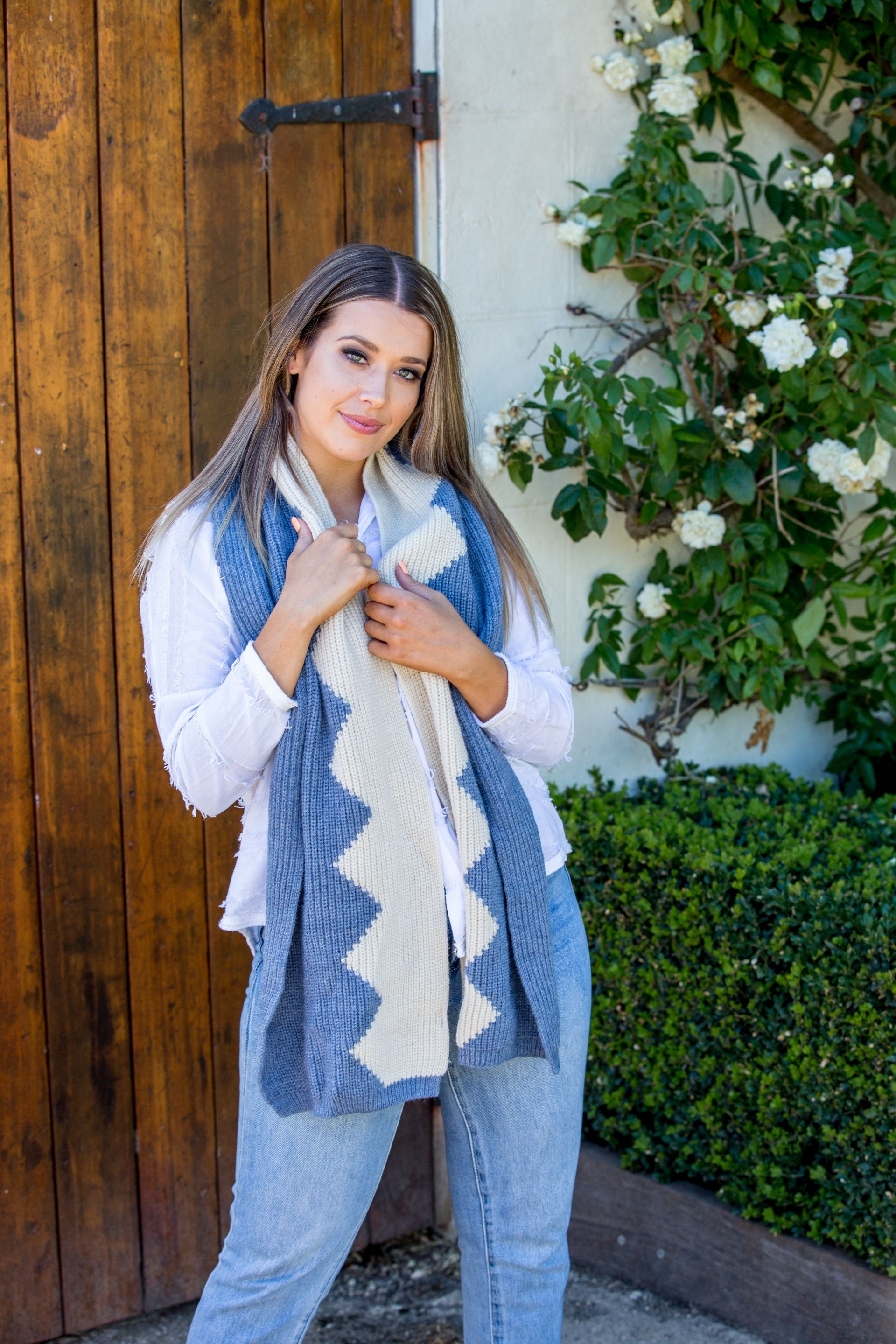 Spencer Scarf - Sky blue