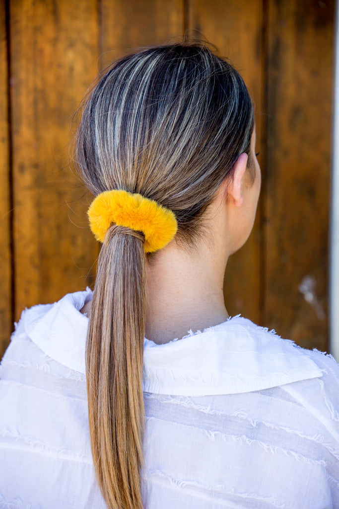 Quincy Hair Ties - Mustard