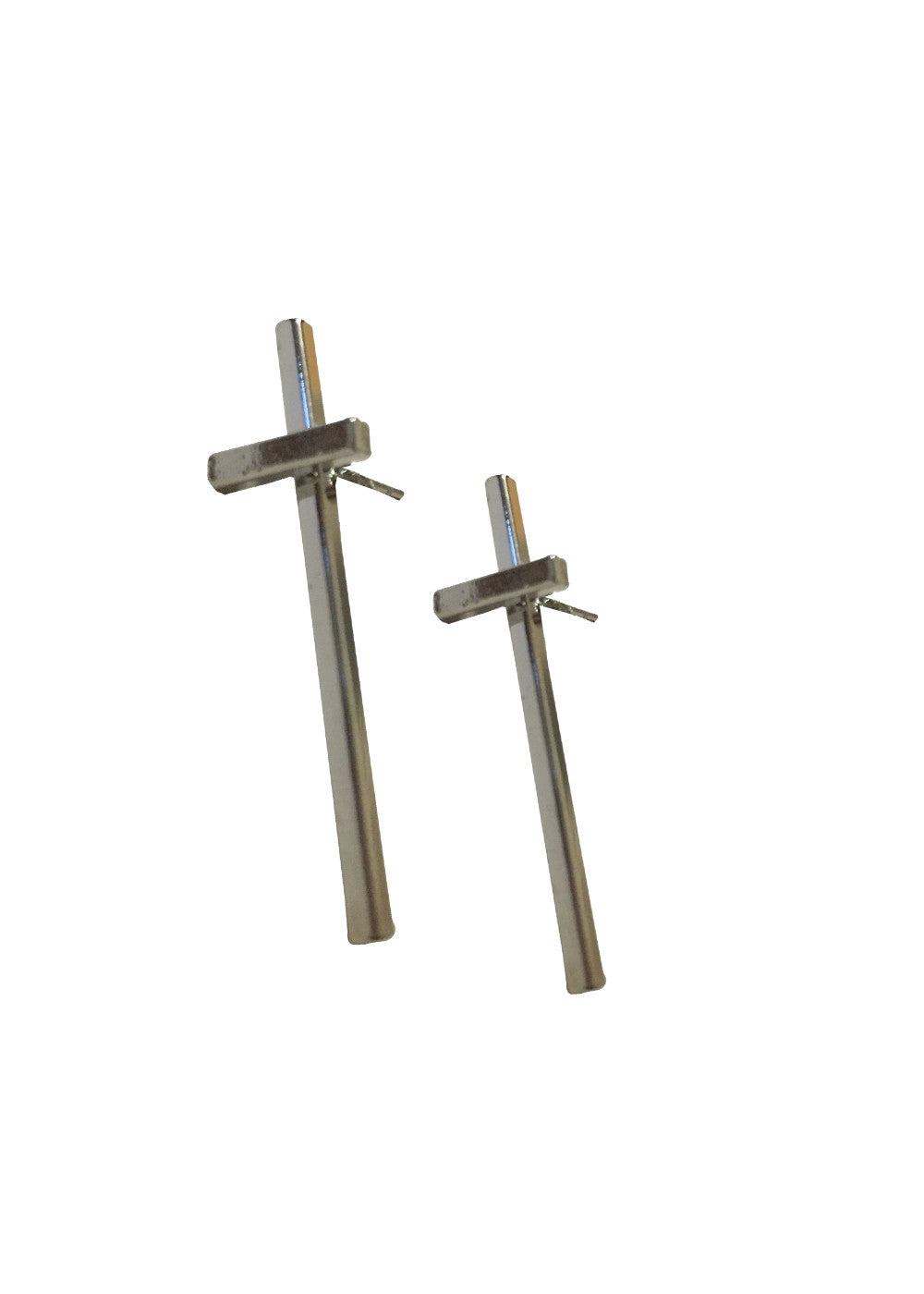 Cross The T Earring - Silver