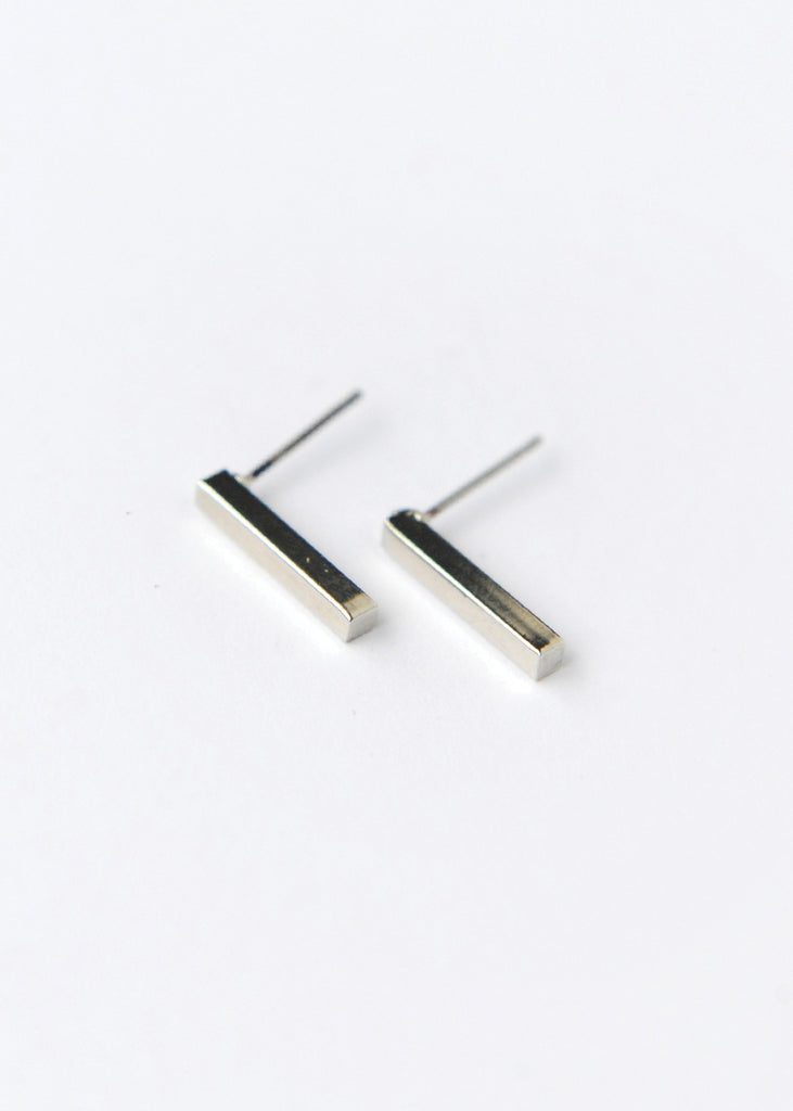 The Soldier Stud Earring - Silver