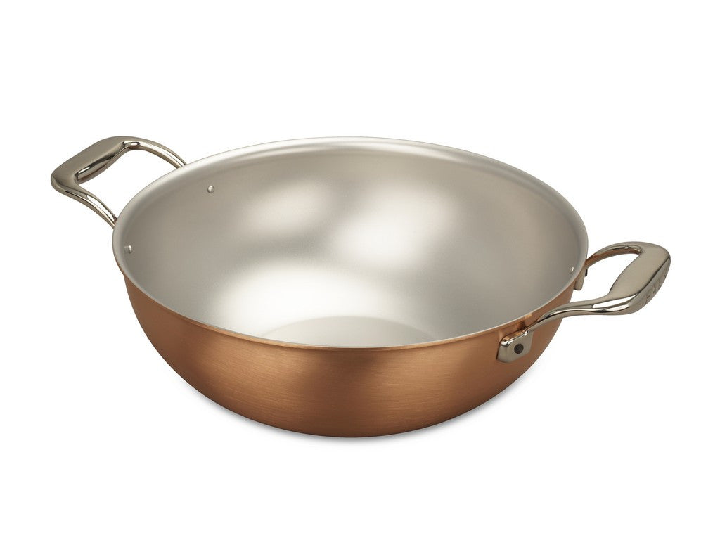 Falk Culinair South Africa - 28cm Falk Copper Wok with 2 handles - Signature Range - 1