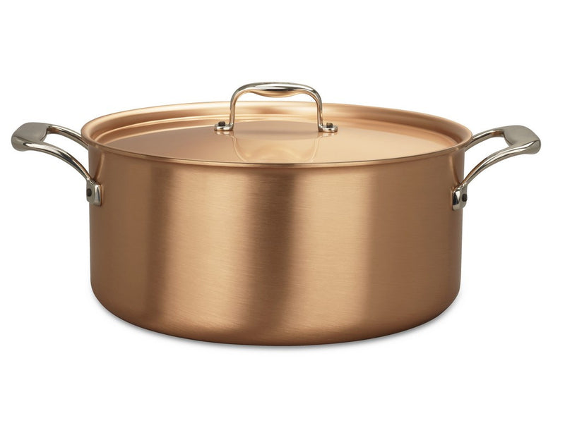 28cm Falk Copper Casserole - Signature Range - Falk Culinair South Africa