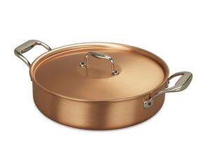 28cm Falk Copper Low Casserole - Signature Range - Falk Culinair South Africa