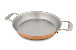 24cm Falk Copper Round Gratin Pan - Induction Range - Falk Culinair South Africa