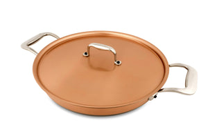28cm Falk Copper Round Gratin Pan - Induction Range - Falk Culinair South Africa