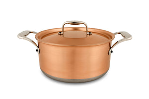 20cm Falk Copper Casserole - Induction Range - Falk Culinair South Africa