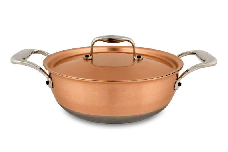 20cm Falk Copper Stew Pan - Induction Range - Falk Culinair South Africa