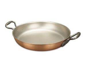 32cm Falk Copper Round Gratin Pan - Classical Range - Falk Culinair South Africa