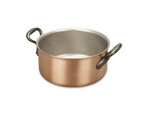 20cm Falk Copper Casserole - Classical Range - Falk Culinair South Africa