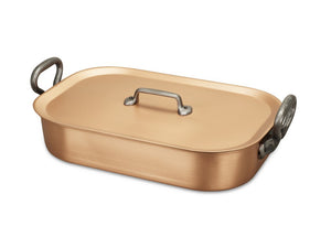 35 x 23cm Falk Copper Roasting Pan - Classical Range - Falk Culinair South Africa