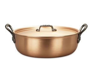 28cm Falk Copper Stew Pan - Classical Range - Falk Culinair South Africa