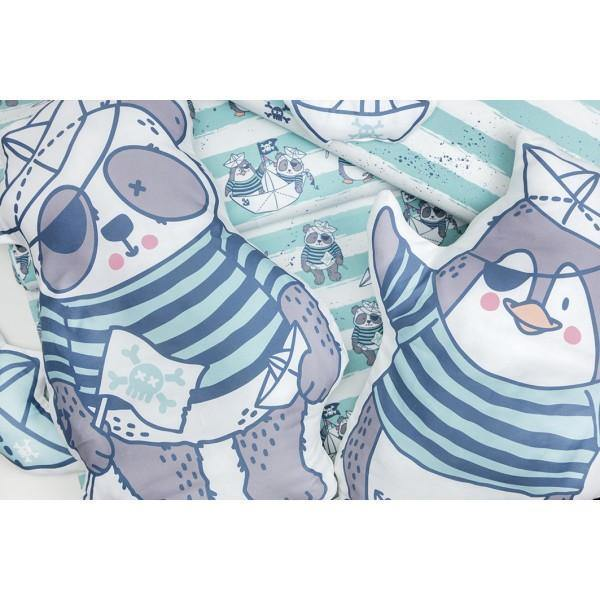 CUT & SEW - DIY Kit for One Pirate Penguin Cushion