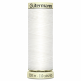 Gutermann Sew-All Thread - 100M (WHT)-Thread-Jelly Fabrics