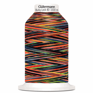 Gutermann Overlock Yarn - Bulky-Lock 80 : 1000 M Black Multicolour (9842)-Thread-Jelly Fabrics