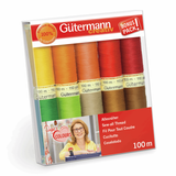 Gutermann Sew-All Thread Set - Assorted (10x 100M)-DIY Kit-Jelly Fabrics
