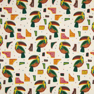 Jersey Fabric - Aztec Toucans-Jelly Fabrics