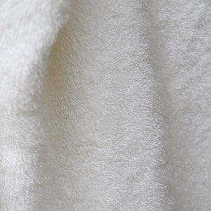 Bamboo Terry Fabric - Solid White