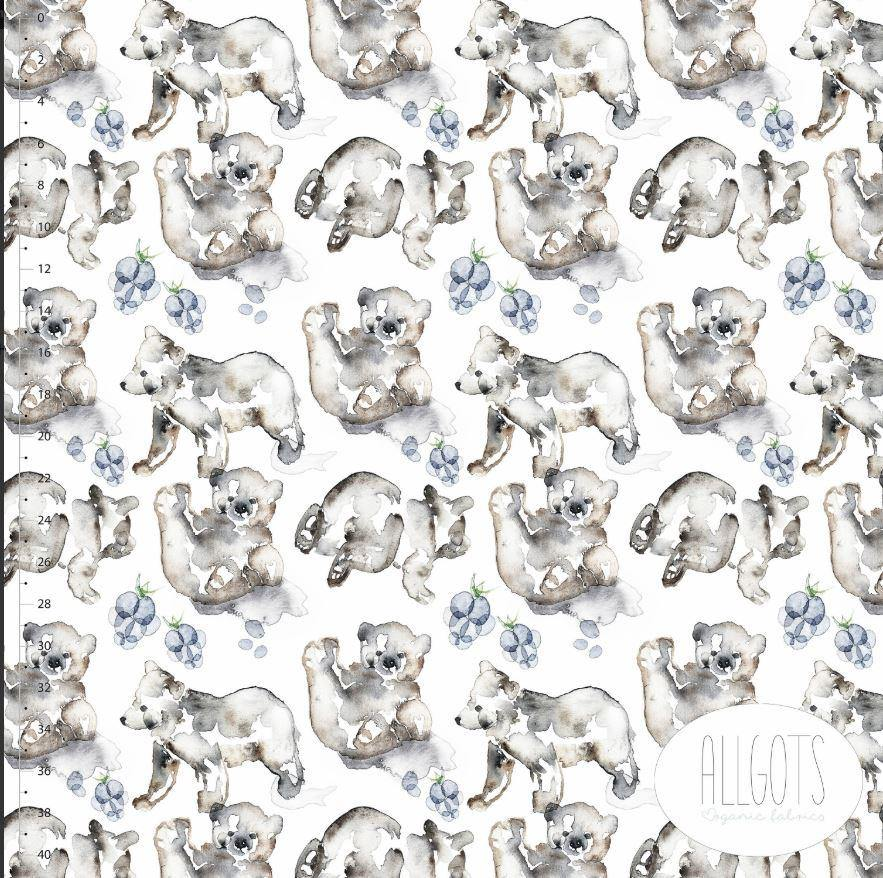 Organic Cotton Jersey Fabric - Bearhug by Allgots