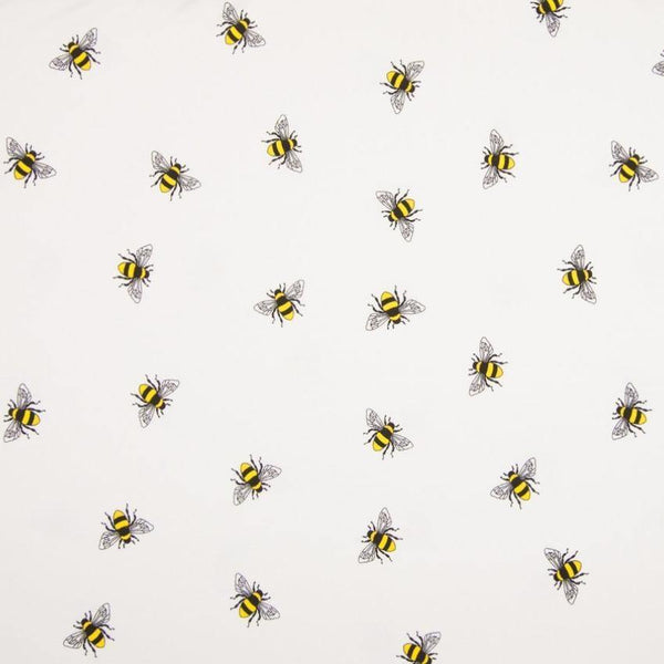 Jersey Fabric - Bees in White