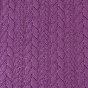 Cable Knit Jacquard Jersey Fabric - Solid in Dark Purple-Jacquard-Jelly Fabrics