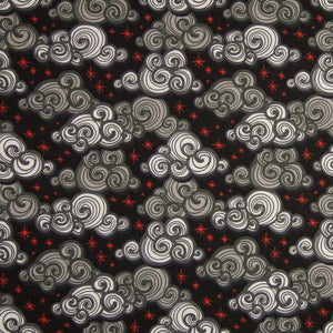 Cotton Jersey Fabric - Stormy Clouds Black-Knit-Jelly Fabrics