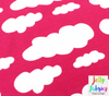 Jersey Fabric - Clouds in Honeysuckle Pink-Jersey Fabric-Jelly Fabrics
