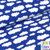 Jersey Fabric - Clouds in Royal Blue-Jersey Fabric-Jelly Fabrics