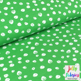 Organic Cotton Jersey Fabric - Confetti in Pear Green by Elvelyckan Design-Organic Jersey-Jelly Fabrics