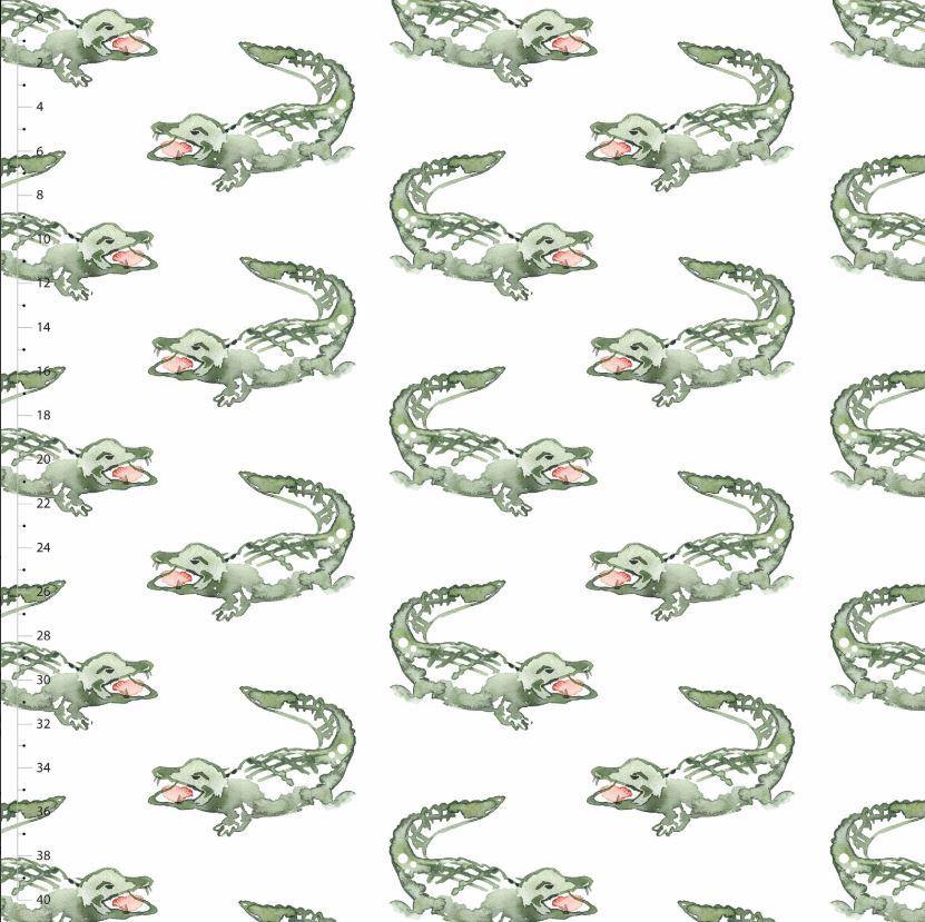 Organic Cotton Jersey Fabric - The Crocodile Elliot