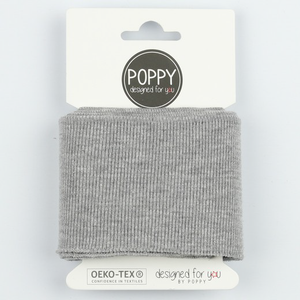 Ready Made Cuff - Solid Grey Melange-Cuff Ribbing-Jelly Fabrics