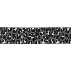 Elastic - Panther Spots in Grey elastic 40mm-Jelly Fabrics