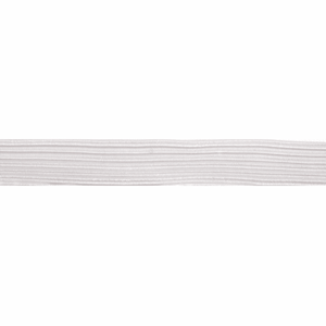 Braided Elastic - 13mm White-Elastic-Jelly Fabrics