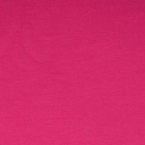 French Terry Knit Fabric - Solid Fuchsia-Jelly Fabrics