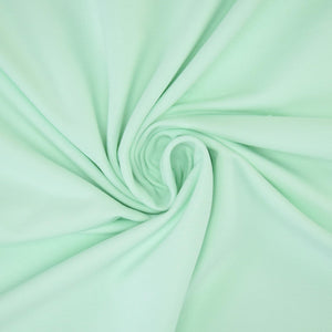 French Terry Knit Fabric - Solid Pastel Mint-Jelly Fabrics