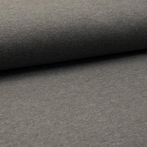 French Terry Knit Fabric - Solid Dark Grey Melange-French Terry-Jelly Fabrics