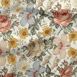 PRE-ORDER!!! - French Terry Fabric - Roses and Daisies-French Terry-Jelly Fabrics