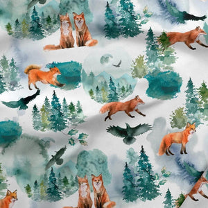 PRESALE!!! - Sweatshirt Knit - Woodland Foxes