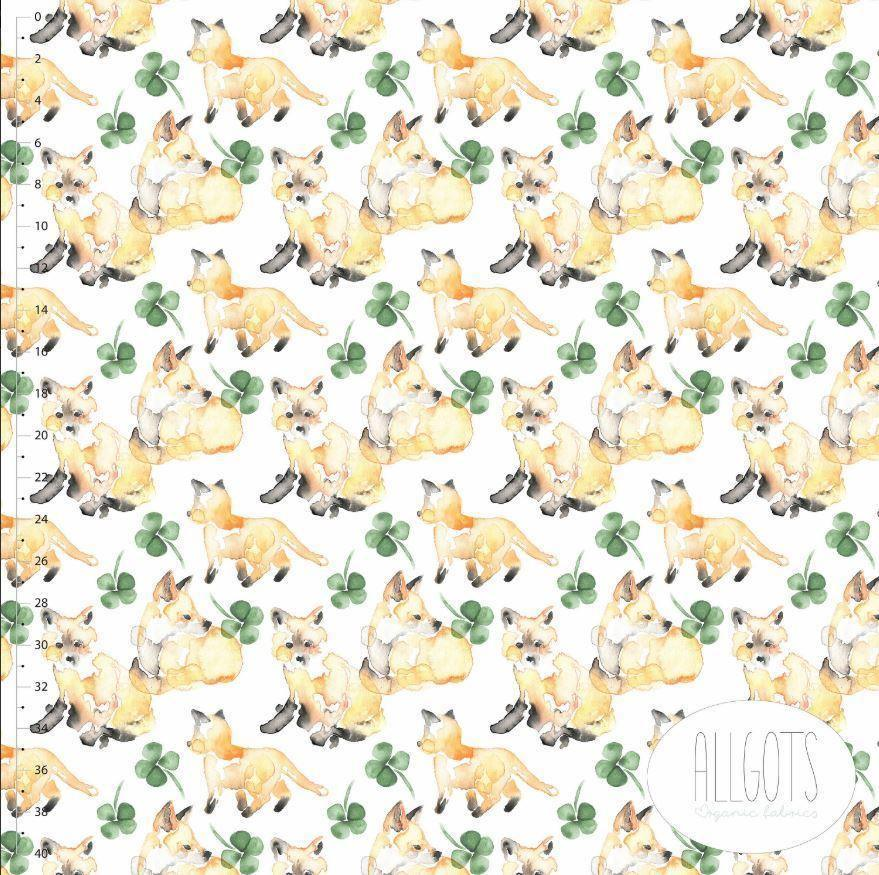 Organic Cotton Jersey Fabric - For Fox Sake by Allgots