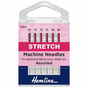 Hemline Sewing Machine Needles - Stretch - Mixed (pack of 6)-Accessories-Jelly Fabrics
